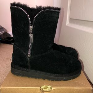 Little girl Black Ugg boots